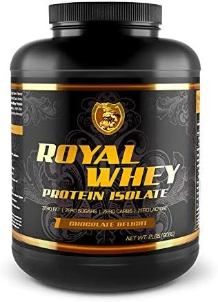 RSN Royal 100% Isolate Protein Powder   27g Protein Isolate   0 Sugar   1g Carbs   5 lbs   76 Servings   Chocolate Delight