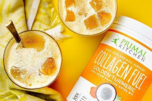 Primal Kitchen Golden Turmeric Collagen Fuel Drink Mix - Non-Dairy Coffee Creamer & Smoothie Booster- Supports Healthy Hair, Skin, Nails and Joints
