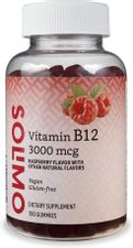 Brand - Solimo Vitamin B12 3000 mcg - Normal Energy Production and Metabolism, Immune System Support* - 100 Gummies (2 Gummies per serving)