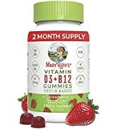 Vitamin D3, B12 Gummies by MaryRuth's, Vegan Daily Supplement for Adults & Kids, Non-GMO, Vitamin...