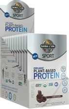 Garden Of Life Sport Organic Plant-Based Protein - BCAA Amino Acid Protein Powder, Chocolate, 1.6 Ounce, Pack of 12