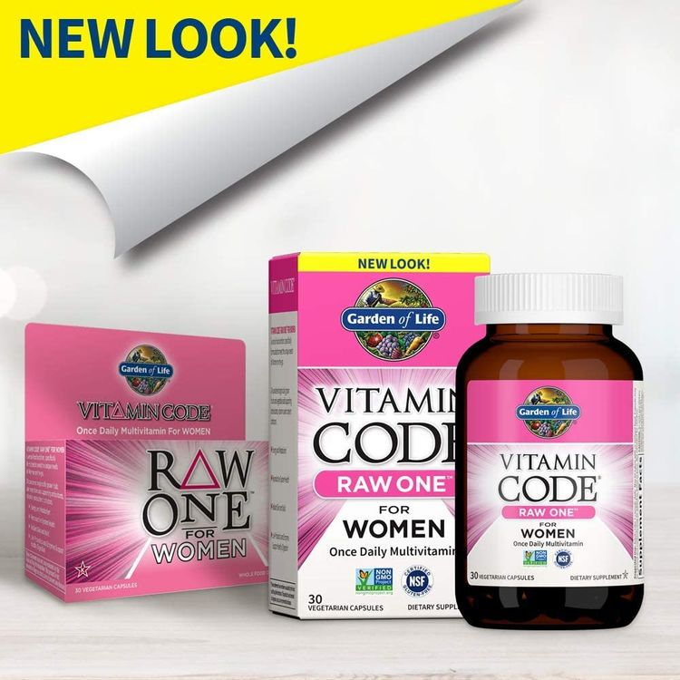 Garden of Life Multivitamin for Women, Vitamin Code Raw One for Women, Once Daily Women's Multi - 30 Capsules, One a Day Vitamins Whole Food Iron, Probiotics for Womens Health, Gluten Free Vegetarian