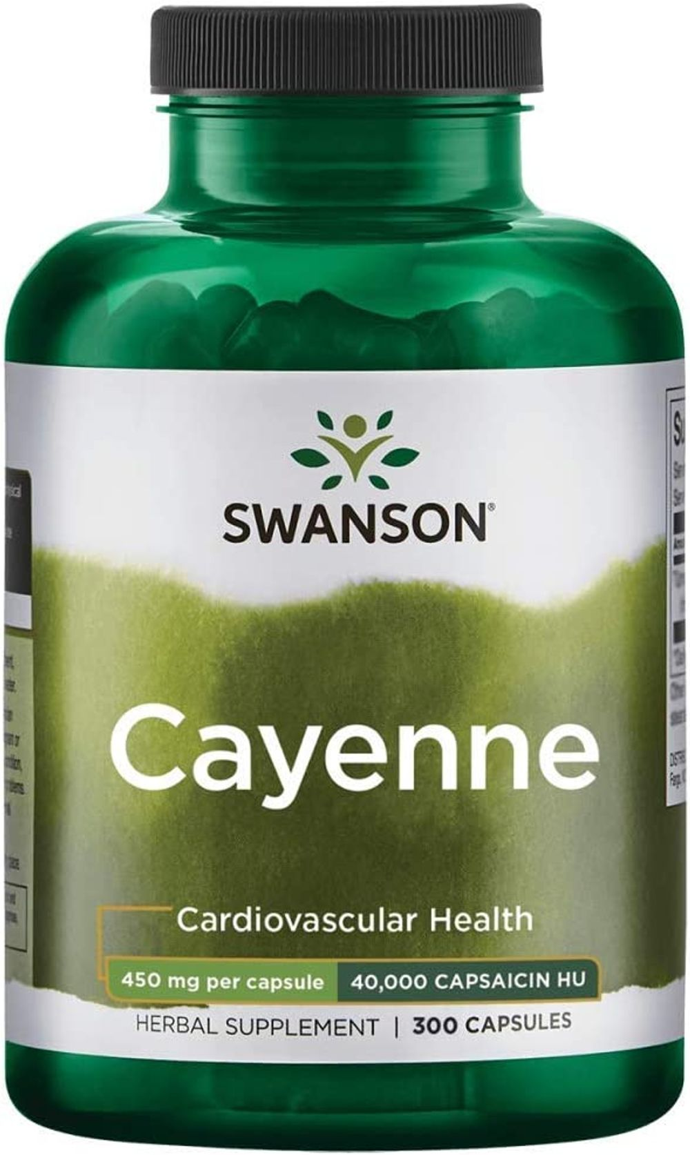 Swanson Cayenne 450 Milligrams 300 Capsules (4 Pack)