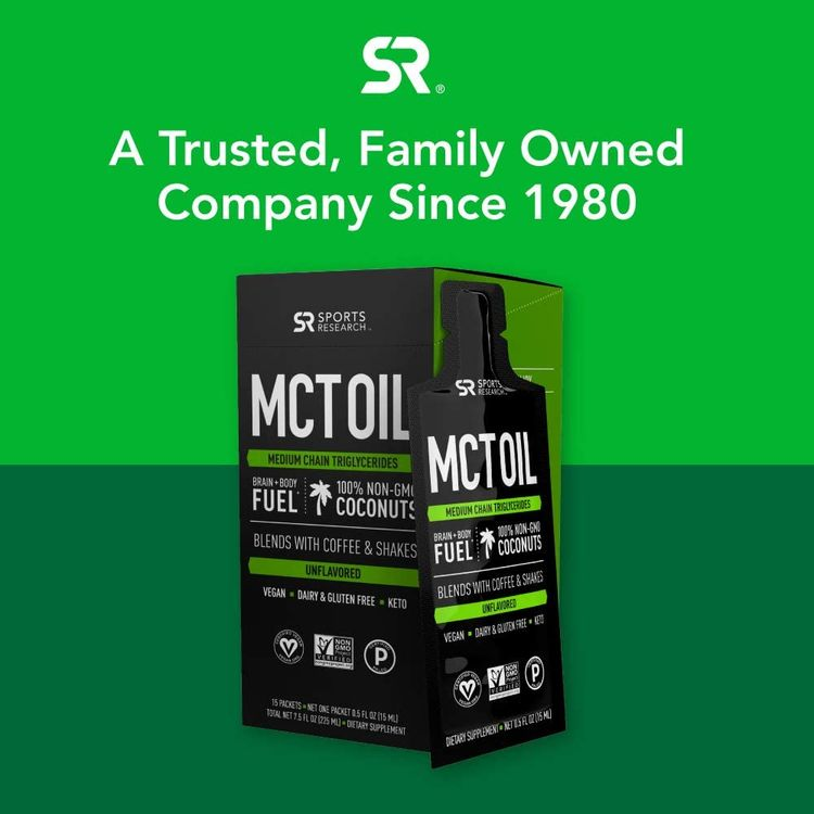 Premium MCT Oil derived only from Non-GMO Coconuts| Keto Fuel for The Body & Brain | Vegan Certified, Keto Friendly and Non-GMO Verified (15 Travel Packets)