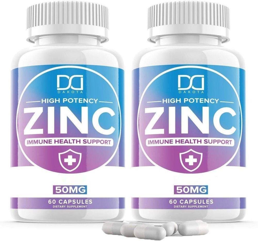 Zinc Picolinate 50mg Vitamin Supplements for Adults Kids for Immune Support System, Zinc Pills Capsules Offer Powerful Alternative to Lozenge, Chewable Tablets, Liquid (2 Month Supply   2 Pack)