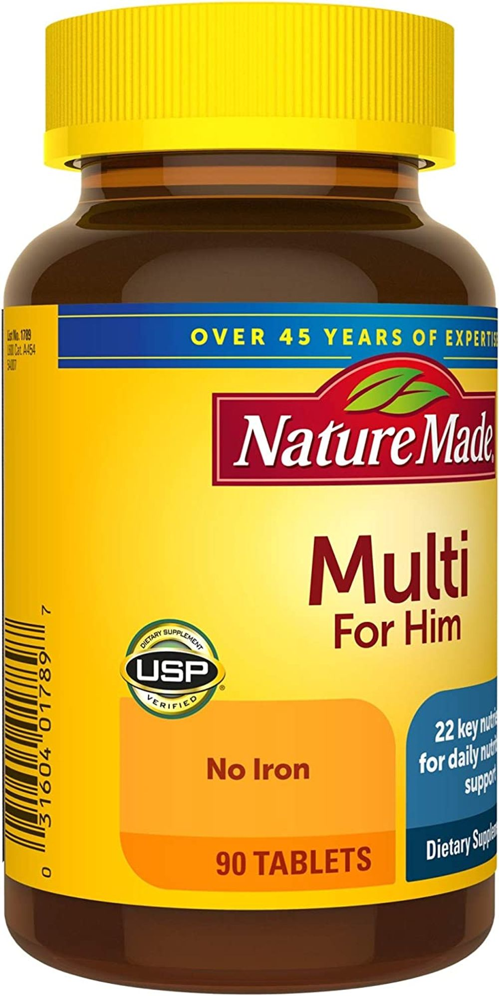 Nature Made Men's Multivitamin Tablets, 90 Count for Daily Nutritional Support