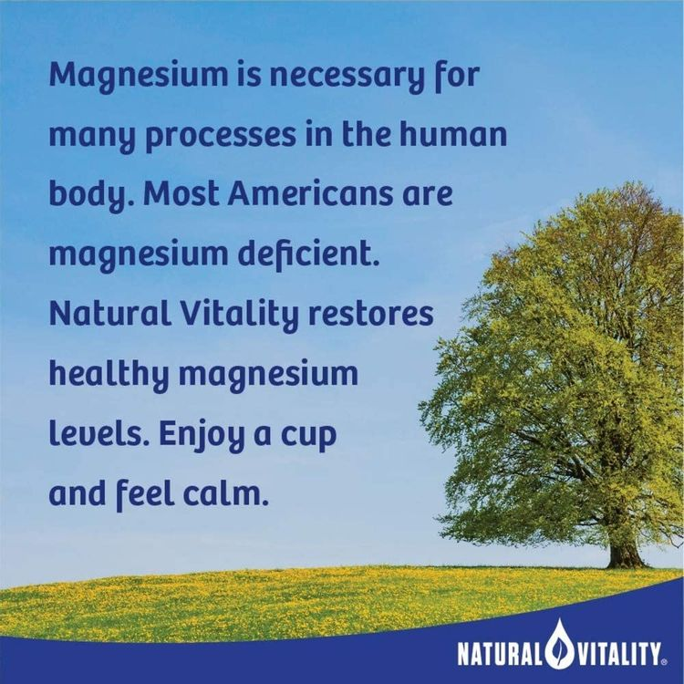 Natural Vitality Calm, Magnesium Citrate Supplement, Anti-Stress Drink Mix Powder, Cherry - 8 Ounce (Packagaing May Vary)