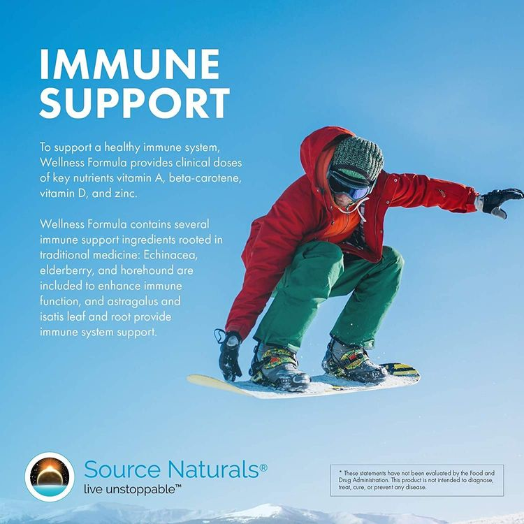 Source Naturals Wellness Formula Bio-Aligned Vitamins & Herbal Defense for Immune System Support - Dietary Supplement & Immunity Booster - 60 Capsules