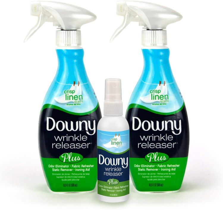 Downy Wrinkle Release Combo Pack Crisp Linen Scent - (2) 16.9 Ounce + (1) 3 Ounce