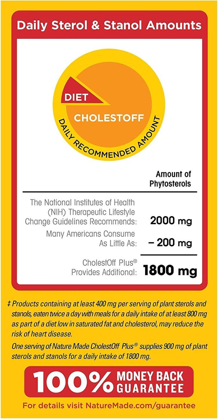 Nature Made CholestOff Plus® Softgels, 100 Count for Heart Health (Packaging May Vary)