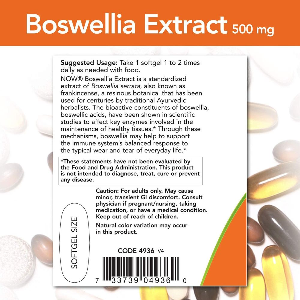 NOW Supplements, Boswellia Extract 500 mg in MCT Oil Base, Balanced Immune Response*, 90 Softgels