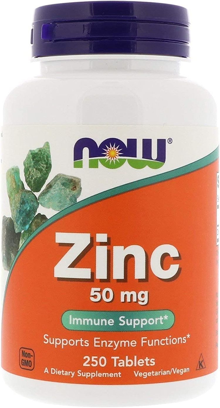 Now Foods, (2 Pack) Zinc, 50 mg, 250 Tablets