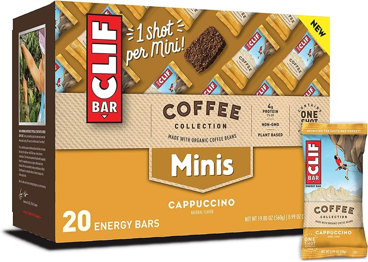 CLIF BAR Coffee Collection - Mini Energy Bars - Cappuccino - (0.99 Ounce Breakfast Bars, 20 Count)