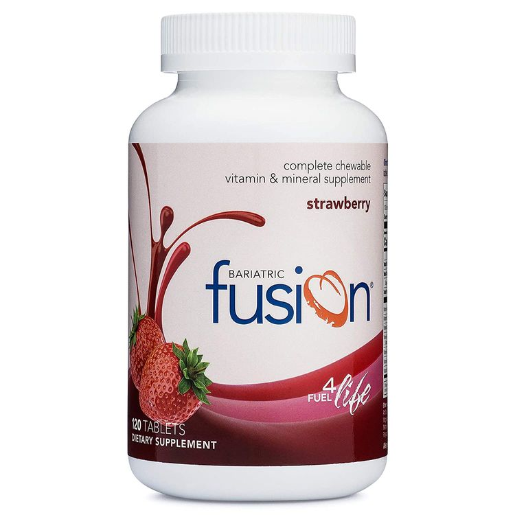 Bariatric Fusion Strawberry Complete Chewable Bariatric Multivitamin for Bariatric Surgery Patients Including Gastric Bypass and Sleeve Gastrectomy, 120 Tablets