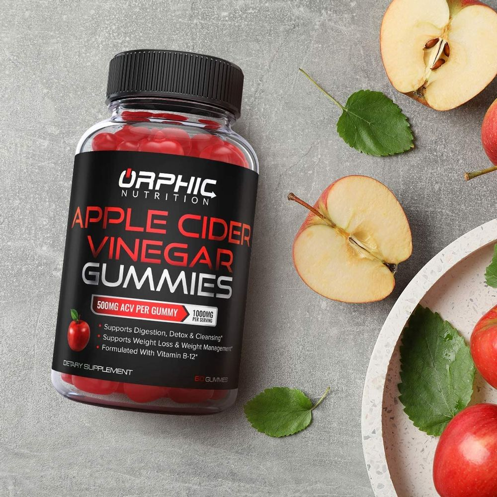 Apple Cider Vinegar Gummies -1000mg - Formulated for Weight Loss , Energy Boost & Gut Health - Supports Digestion, Detox & Cleansing - Natural ACV Gummies W/ VIT B12, Beetroot & Pomegranate