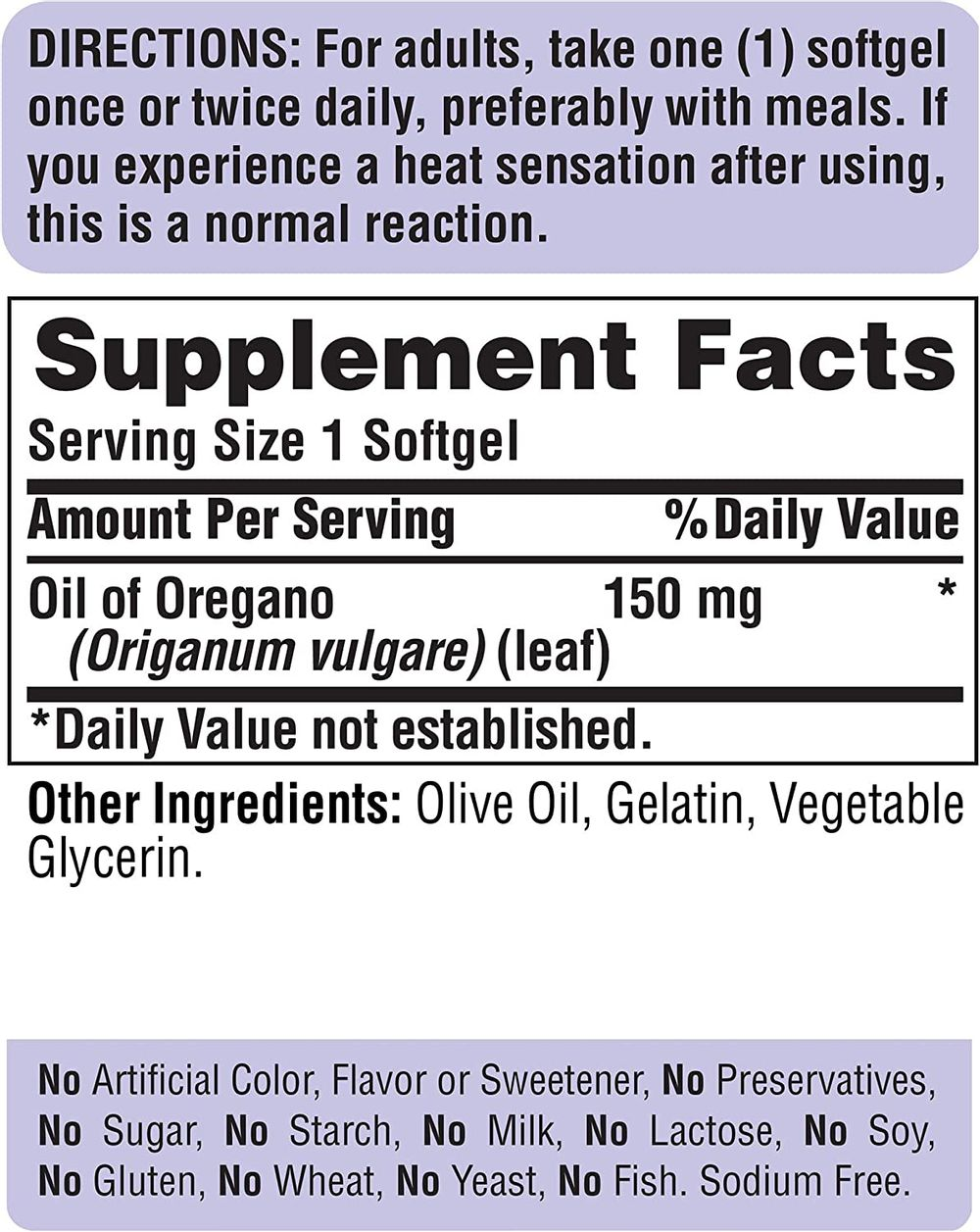 Oil of Oregano Extract by Puritan's Pride®, Contains Antioxidant Properties*, 1500mg Equivalent, 180 Rapid Release Softgels