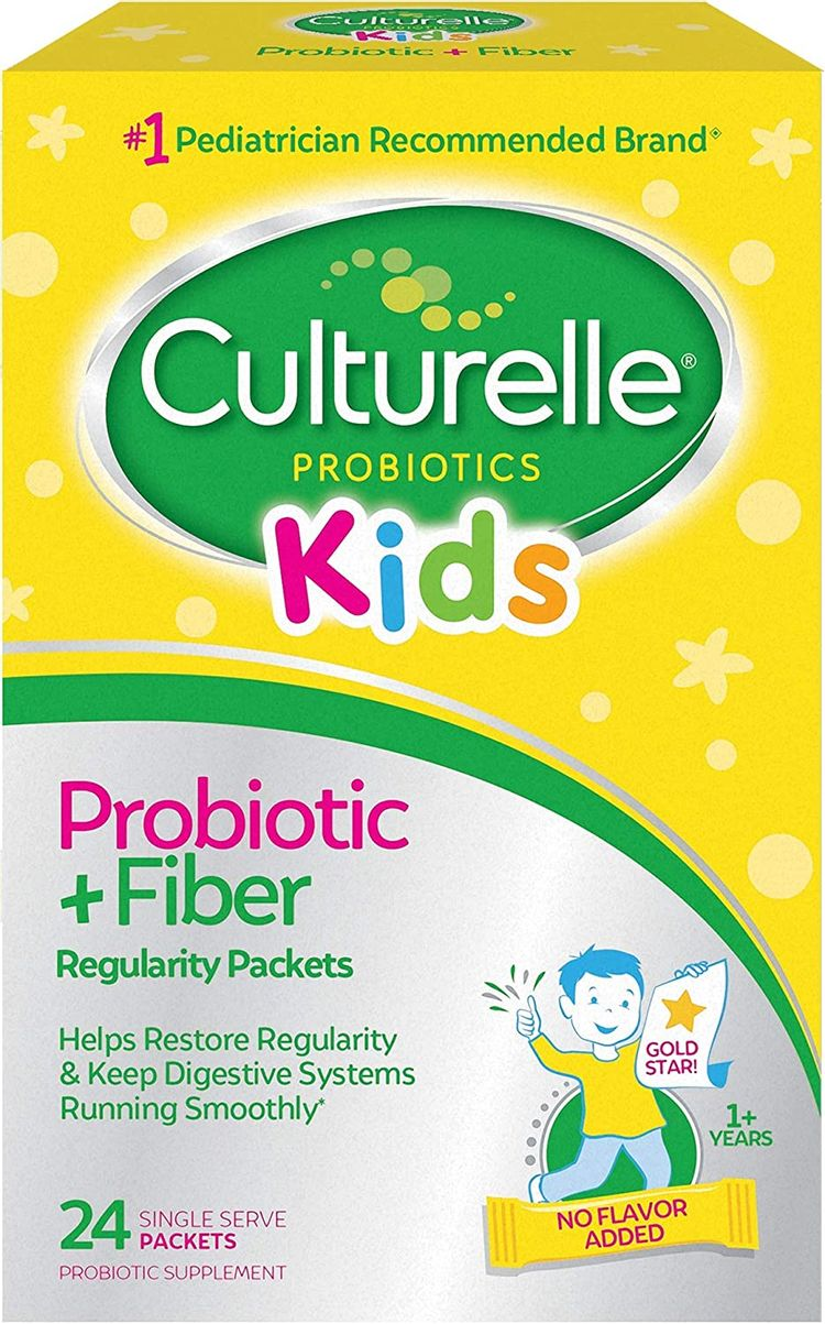 Culturelle Kids Regularity Probiotic & Fiber Dietary Supplement   Helps Restore Regularity & Keeps Kids' Digestive Systems Running Smoothly*   Works Naturally with Child'S Body*   24 Single Packets