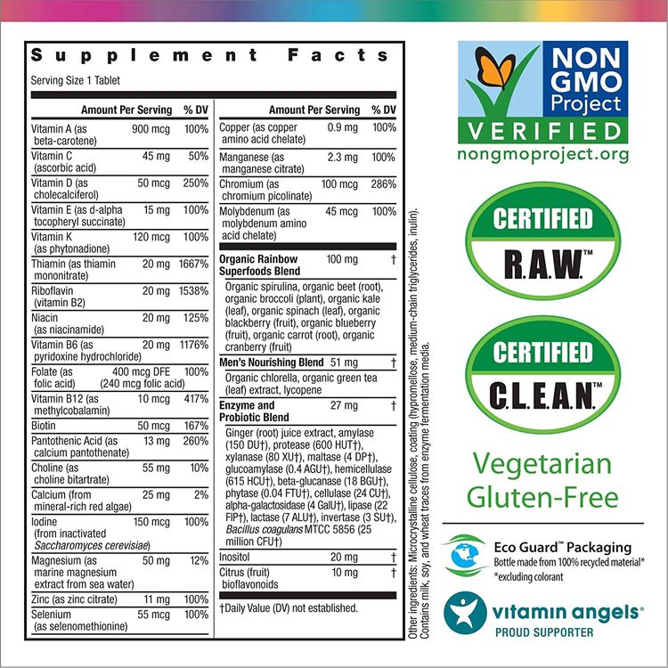 Rainbow Light Men's One High Potency Multivitamin for Men, 90 Count (Package May Vary)