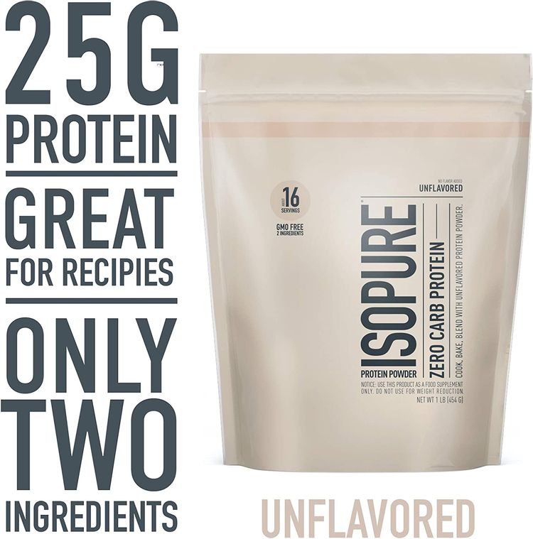 Isopure Zero Carb Unflavored 25g Protein, 100% Whey Protein Isolate, Keto Friendly Protein Powder, No Added Colors/Flavors/Sweeteners, GMO Free, 1 Pound (Packaging May Vary)
