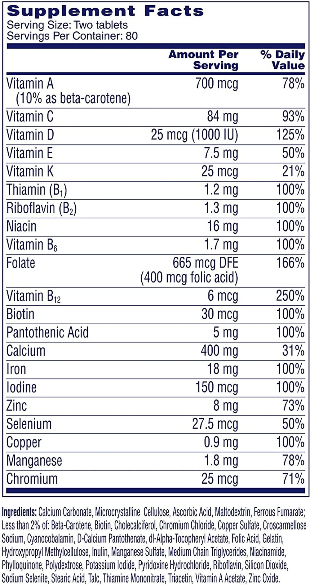 One A Day Women's Petites Multivitamin,Supplement with Vitamin A, Vitamin C, Vitamin D, Vitamin E and Zinc for Immune Health Support, B Vitamins, Biotin, Folate (As Folic Acid) & More, 160 Count