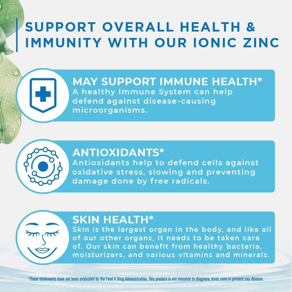 Ionic Zinc Liquid Drops by MaryRuth's for Skin Health and Immune Support | Pure Zinc Sulfate Supplement with Organic Glycerin for Adults & Kids | Vegan, Non-GMO & Gluten Free | 40 Servings
