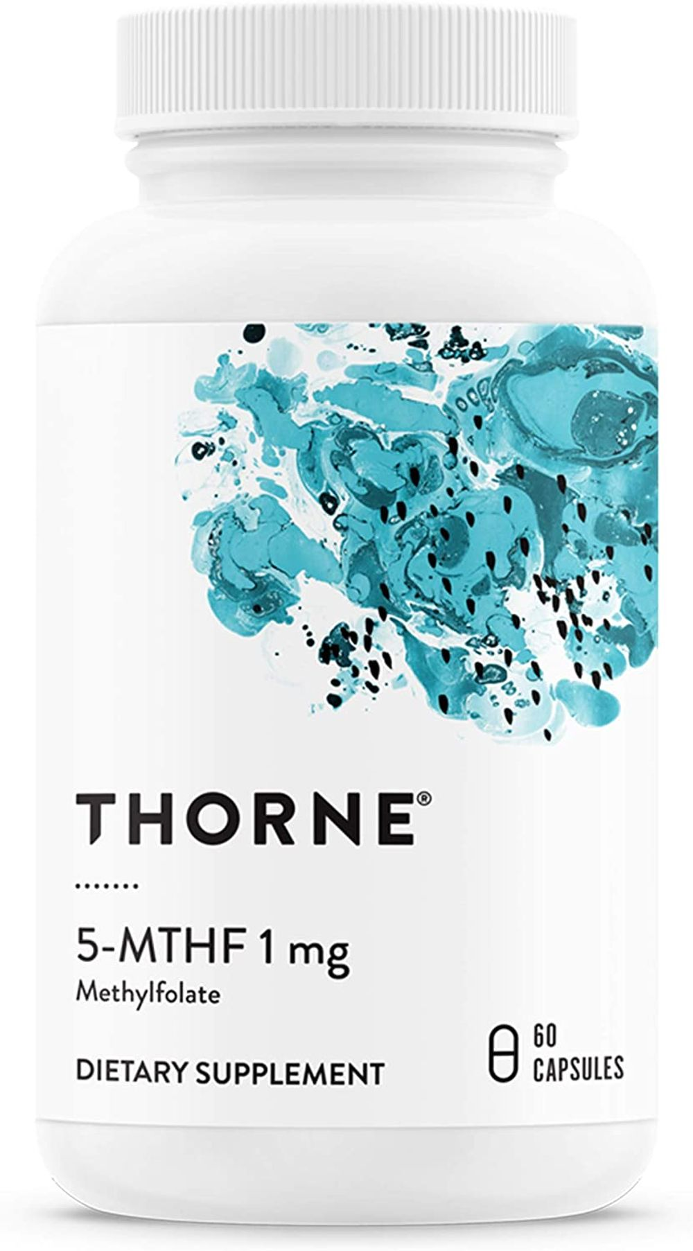 Thorne Research - 5-MTHF 1 mg Folate - Active Vitamin B9 Folate Supplement - 60 Capsules