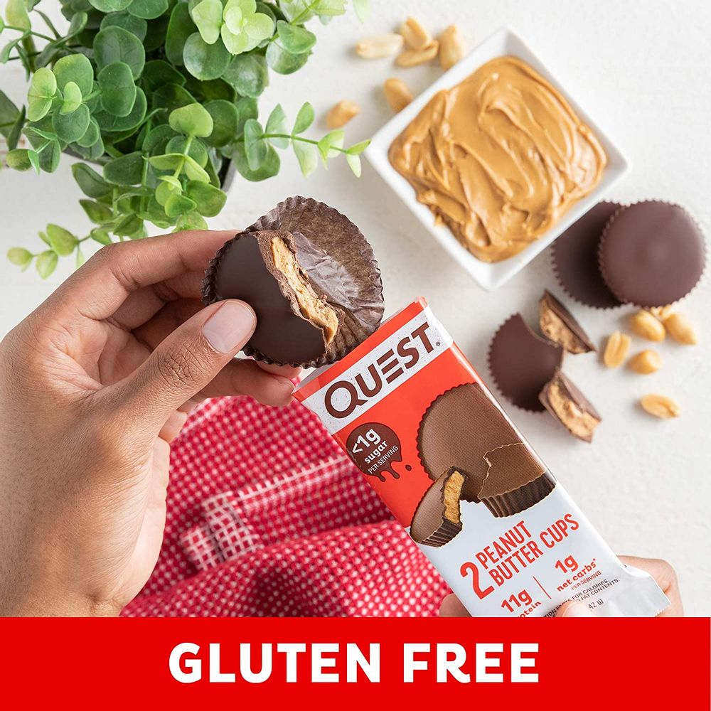 Quest Nutrition High Protein Low Carb, Gluten Free, Keto Friendly, Peanut Butter Cups, 17.76 Ounce