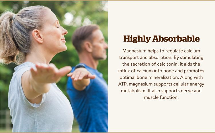supports cellular energy metabolism, and supports a calm, relaxed mood