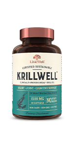KrillWell Certified Sustainable Clinically-Proven KReal Krill Oil