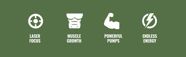 Laser Focus, Muscle Growth, Powerful Pumps, and Endless Energy