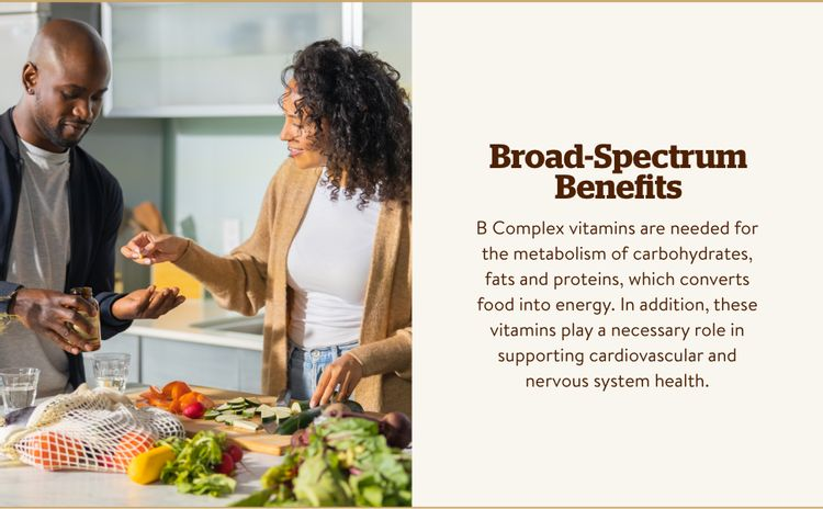 Vitamin B1, B2, B3 and B6, all which support heart & nervous system health