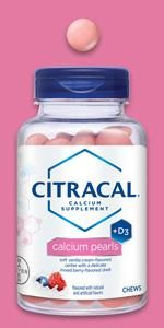 Citracal Pearls chews chewable natural flavors calcium citrate carbonate vitamin D +d3 adults