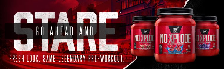 N.O.-XPLODE, the legendary pre-workout formula that helps athletes turn heads in the weight room