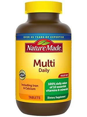 Nature Made Multivitamin Daily Tablets with Vitamin D3 and Iron