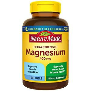 Nature Made Extra Strength Magnesium 400 mg Softgels for Nutrition Support