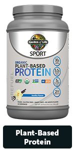 garden of life sport line, organic, nongmo, certified for sports, whey, plantbased, energy recovery
